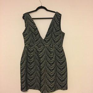 ASOS Womans Plunge Neck Dress Size 14 US Black